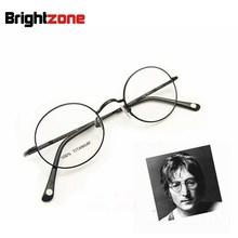Gratis Verzending Vintage Volle Rand John Lennon Ronde Lente Scharnier Pure Titanium Brillen Bril Frame Oculos de grau Femininos