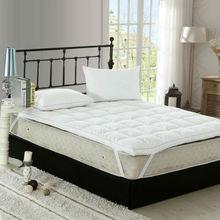 Peter Khanun Top Kwaliteit Witte Eend Veer Filler Bed Matras 100% Katoen 233TC Single Layer Matras Blauw Satijnen Rand 027