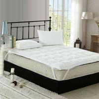 Peter Khanun Top Quality White Duck Feather Filler Bed Mattress 100% Cotton 233TC Single Layer Mattress Blue Satin Edging 027