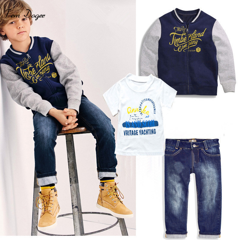 Autumn Kids boys clothing set  coat+ t shirt + jeans  Children boy clothes suit high quality sports suit free shipping spring autumn boys t shirt 5pcs lot high quality baby boy t shirt