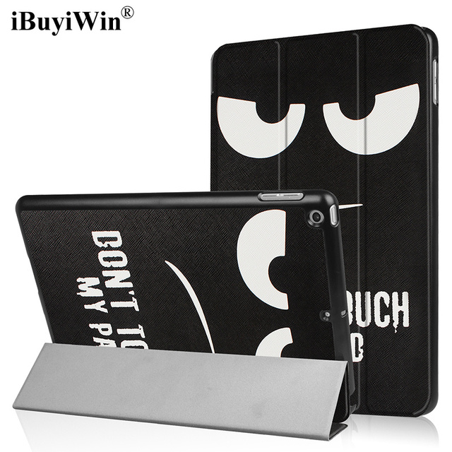 IBuyiWin Slim plegable caso de Folio para iPad 9,7 pulgadas 2017 de 2018 soporte magnético cubierta inteligente para iPad 2017 de 9,7 fundas + película + bolígrafo