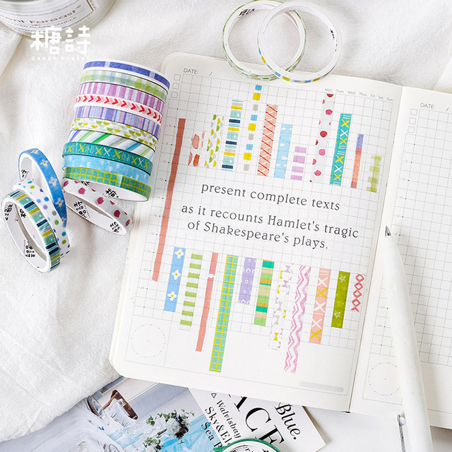 10 pcs Adhesive Decorative Tape Stickers