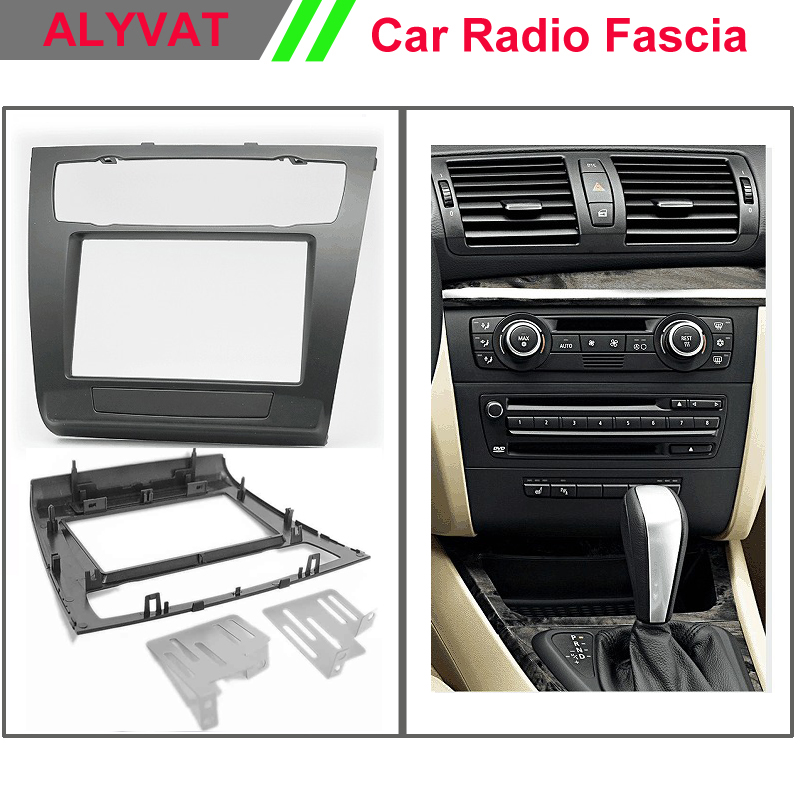 цена на Dash Car CD Panel Frame for BMW 1 Series E81 E82 E87 E88 (Auto Air-Conditioning) Stereo Fascia Dash CD Trim Installation Kit