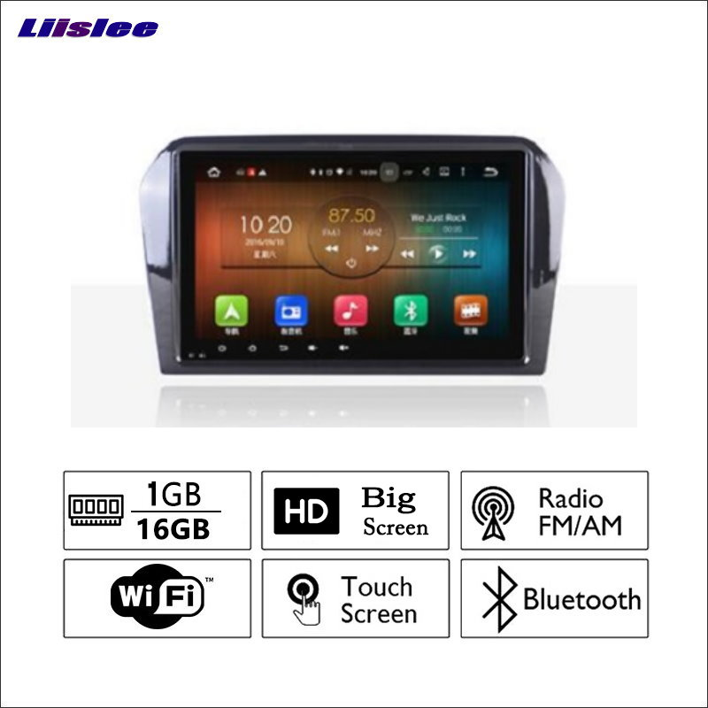 Liislee For Volkswagen <font><b>VW</b></font> <font><b>Jetta</b></font> 2011~2017 Car Radio GPS Audio Video Multimedia Player WiIFi Navigation Android System No CD DVD image