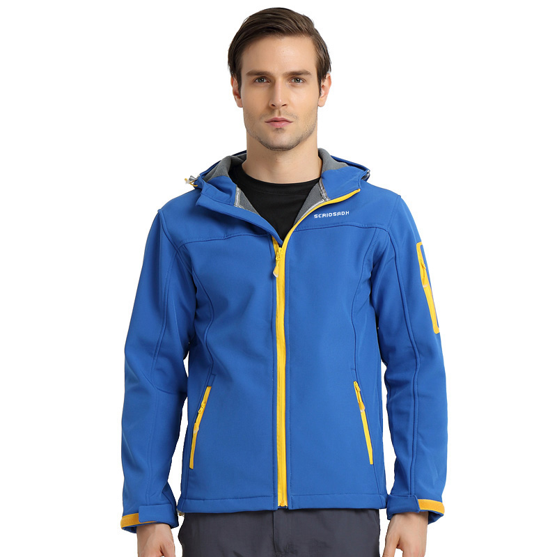 Autumn Winter Soft shell Clothing Men's Outdoor Fleece Soft shell Jacket Women's Thin Coat Waterproof Keep Warm Skiing Jackets