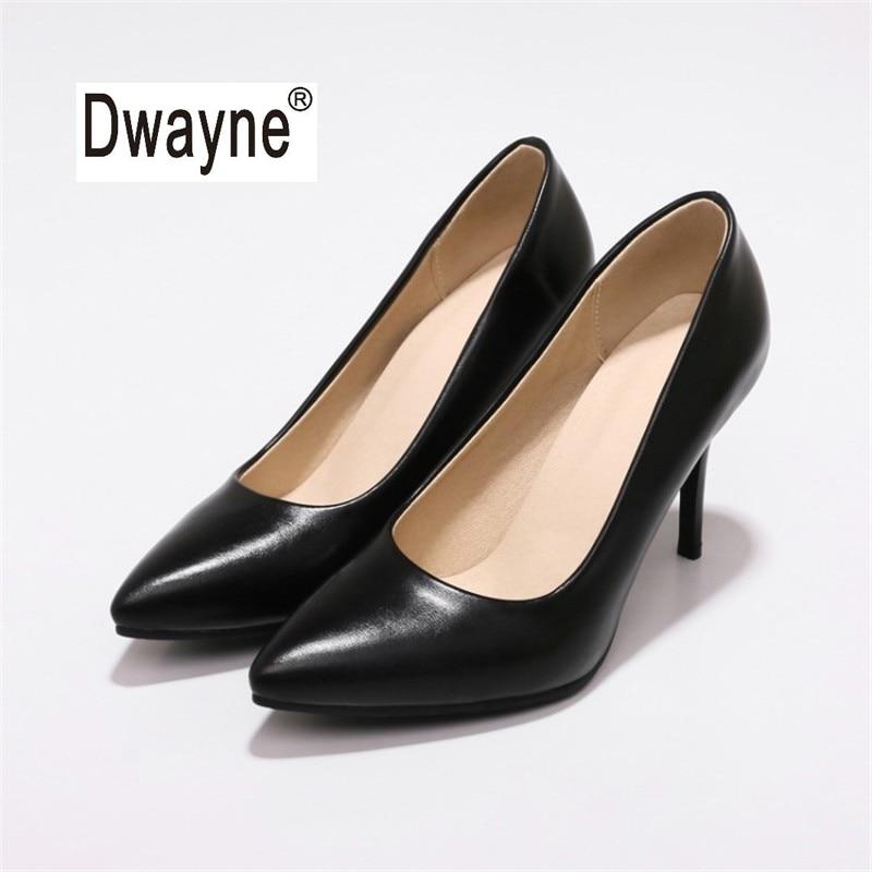 Большой Размеры Для женщин обувь 9 см летние туфли на высоком каблуке MF2 хорошее туфли-лодочки из искусственной кожи обувь для вечеринок для ...