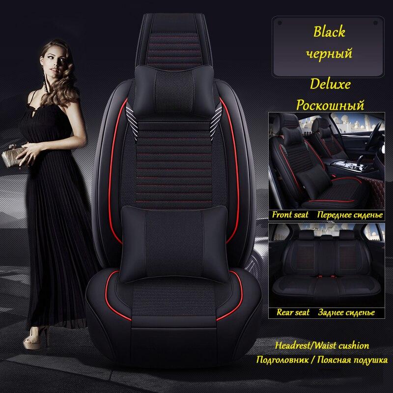 (Front+Rear) Leather car seat covers cushion For Hyundai SONATA SOLARIS TERAKAN TUCSON T ...