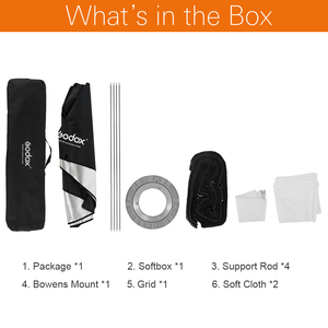 "Image 2 - Godox 30x120 ס""מ 12 ""x 47"" כוורת רשת מלבני Bowens הר רצועת Softbox סטודיו Strobe Softbox מפזר עבור סטודיו Strobe"
