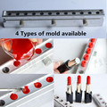 1 Set 12 Cavities/holes Aluminum Lipstick Mold, Lipstick Mold Aluminum with 4 Shapes, 12.1mm 11 Mm