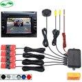 16mm Flat Sensors Dual Core Car Video Parking Sensor Reverse Backup Radar Digital Display Step-up Alarm For DVD TFT Monitor