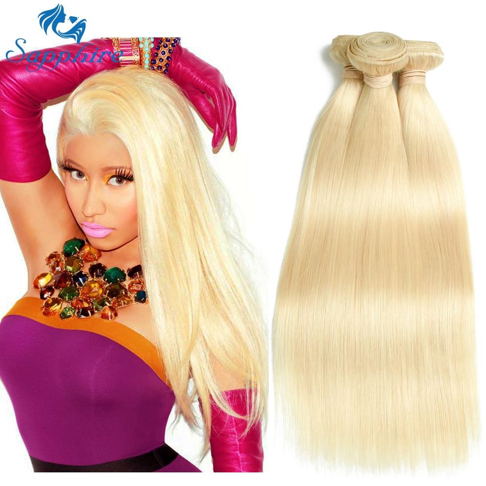 Sapphire Brazilian Straight Hair Bundles 613 Blond Human Hair Weave - Barbershop - Foto 2