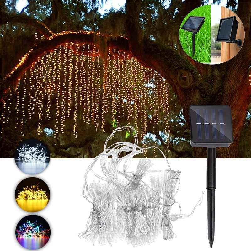 LED Solar String Lights Outdoor Solar Powered 300LED Waterproof Curtain Light Night Lamp Garden Christmas Party Solar Light