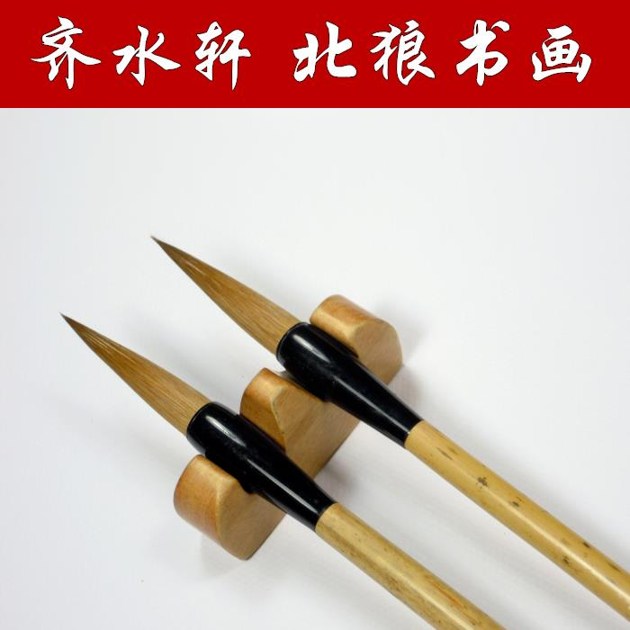 2Pcs/Set Weasel Hairs Brush For Calligraphy Chinese Painting Brush Multiple Hair Calligraphic Brush Bamboo Large Regular Script 2017 new wallet small coin purse short men wallets genuine leather men purse wallet brand purse vintage men leather wallet