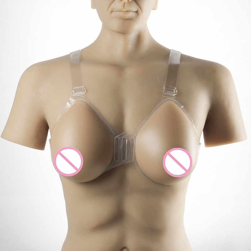 Transgender And Crossdressing Breast Form 1200g/pair Strap-On Silicone False Breast Drag Queen Shemale Artificial Fake Boobs 1200g dd cup boobs for drag shemale transgender prosthetic breasts cups for dresses silicone fake breast