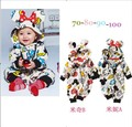 cute infant cartoon minnie clothing baby wear kids cotton clothes fashion baby boys girls rompers new autumn spring overalls