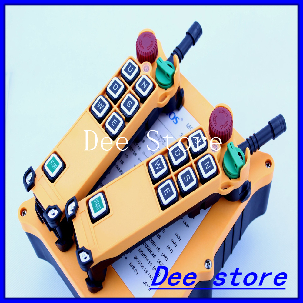 6 Channel 2 Speed 2 Transmitters Hoist Crane Truck Radio Remote Control Push Button Switch System Controller 3 motion 2 speed 1 transmitter hoist crane truck radio remote control push button switch system controller
