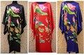 Free Shipping Women's Hand-Made Painted Kaftan Robe Gown Kimono Bathrobe Sleepwear Water lily & Duck