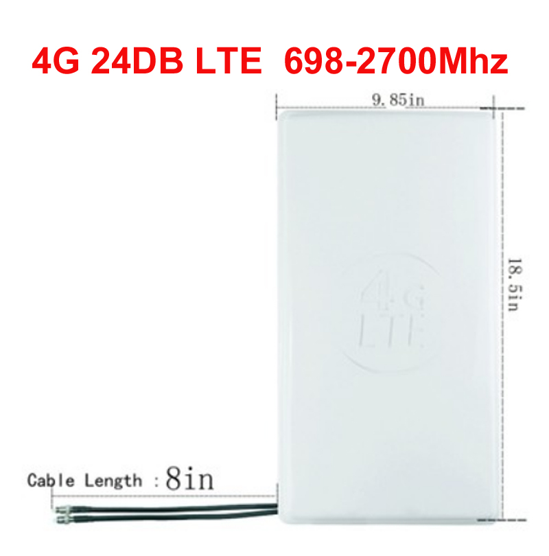 20m cable option 24dbi 4G router antenna big panel LTE 4G antenna SMA TS9 CRC9 connector