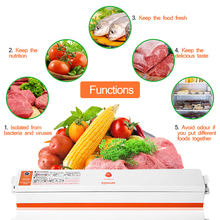 TintonLife 220V/110V Household Food Vacuum Sealer Packaging Machine Film Sealer Vacuum Packer Including 15Pcs Bags