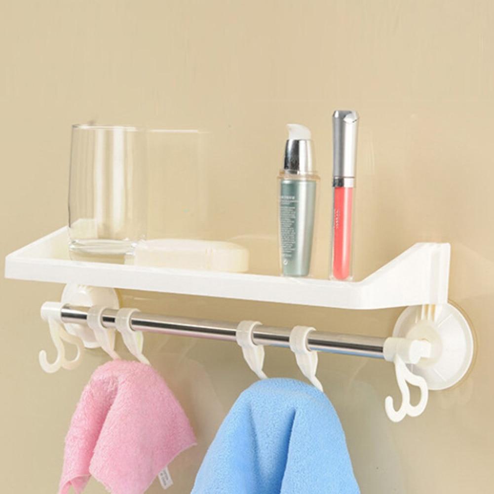 Home Bathroom Kitchen Plastic Shower Gel Storage Rack Holder Shelf ...