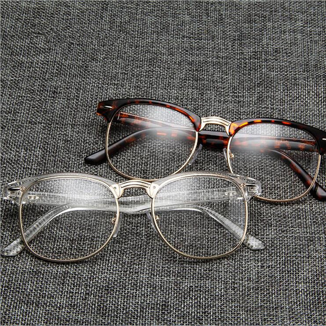 dc0332e695 Vintage Eyeglass Frames Full Rim Retro Glasses eyewear Rx able unisex  myopia Spectacles come with clear