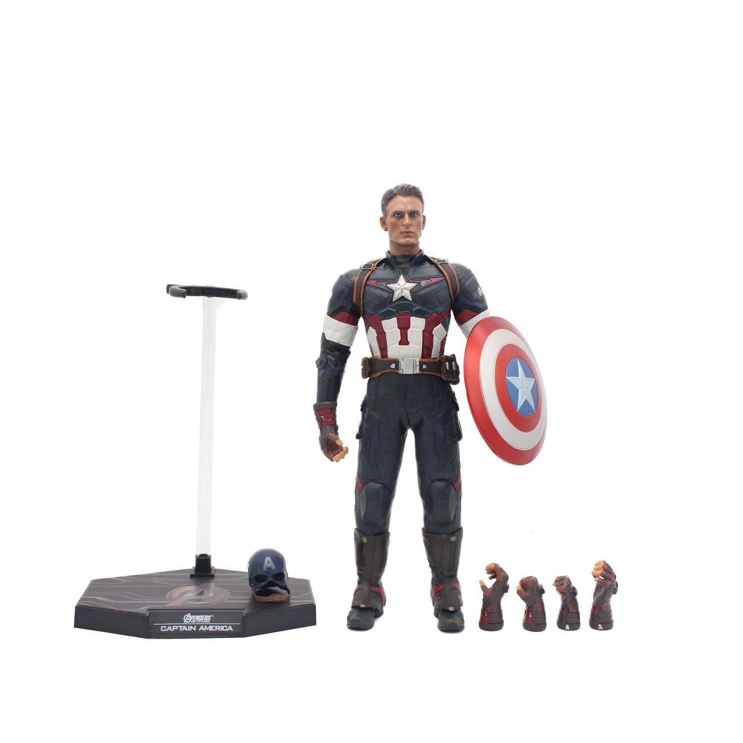 Captain America 12in 1pcs/set PVC Figures The Avenger Marvel Captain America Action Anime Figures Kids Gifts Toys 12pcs set children kids toys gift mini figures toys little pet animal cat dog lps action figures