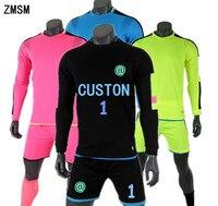 ZMSM Long Soccer Goalkeeper Uniforms Men S Soccer Jerseys Kit Sportswear Football Goalkeeper Doorkeepers Training Suit