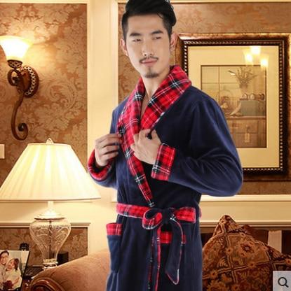 Men Style Sexy Bathrobe Mens Robes Men kimono Winter Robe Masculino Wedding Dressing Gown peignoir homme roupao saia masculina
