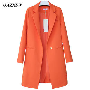 8b65348e797 QAZXSW Coats Casual Long Women Female Jacket Plus Size