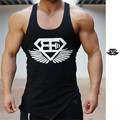 New Summer Men Tank Tops printed inclined fork Bodybuilding tshirt and Fitness Mens Sleeveless Shirt Vests Cotton Tops