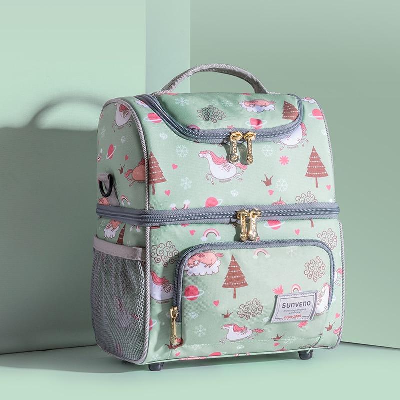 SUNVENO New Fashion Bottle Bag Keep Fresh Insulation Bag Skip Zoo Unicorn Pattern Thermal Bag for Bottles Baby Bottle Holder