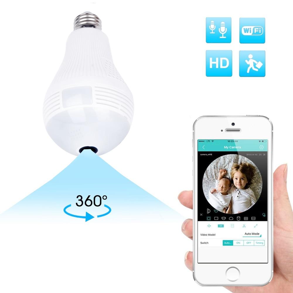ZILNK Bulb Lamp WI-FI IP Camera 960P HD Panoramic 3D VR Fisheye Light 360 Degree Wireless Home Security CCTV Night Vision iCSee цены