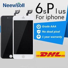 10PCS/LOT No Dead Pixel Tianma LCD For iPhone 6S Plus LCD Display Screen Digitizer Assembly 100% Tested DHL Free