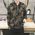 2016 Real Embroidery Jackets Man Fertilizer Plus Youth Thick Section Loose Jacket Tide Fat Winter Autumn Camouflage Air Force