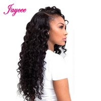 Indian Deep Wave Remy hair 1piece black human hair weaving extension thick full weft bundles No Shedding no Tangle