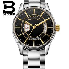BINGER Brand New Men's Watch Navigator Design Top Brand Luxury Chronograph Montre Homme Clock Men Mechanical Watches Male B5007M