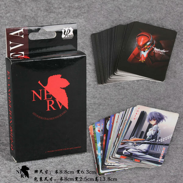 10 Pz/lotto Anime Poker Neon Genesis Evangelion Gioco Colletion Carta Bianco Puro E Traslucido