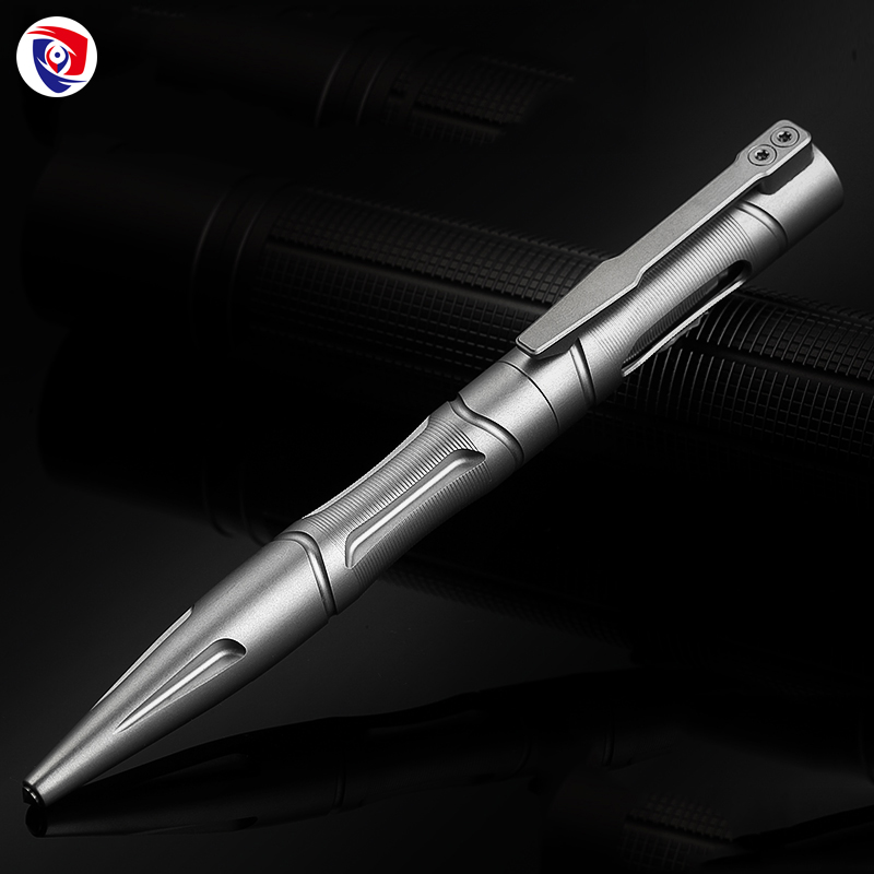 New Outdoor Titanium alloy Self Defense survival Safety Tactical Pen Pencil With Writing Multi-functional Tungsten Steel Head aluminum alloy tactical pen multi function survival tool waterproof compartment self defense tungsten steel head and whistle