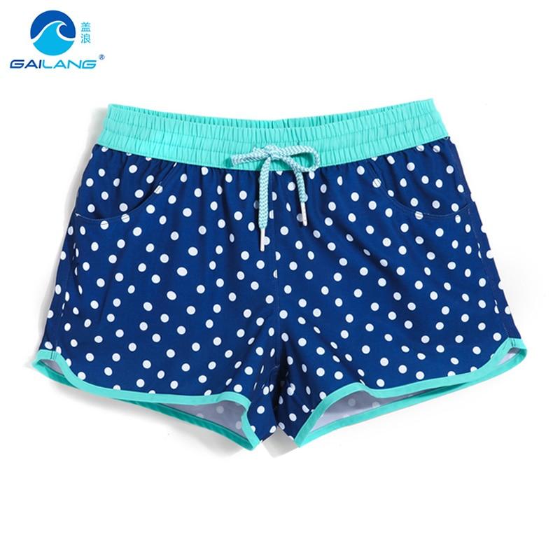Lady board shorts swimming short swimsuits dot sexy quick dry female running shorts swimwear board sweat plavky beach shorts