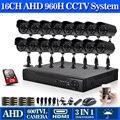 Casa de segurança CCTV 16ch DVR com 1 tb de disco rígido interna Câmera de visão Noturna Kit 16ch Color Video Surveillance System 16 canal