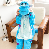 Monstre université Sulley Sullivan onesies Pyjamas de Bande Dessinée costume cosplay Pyjamas Adulte Animal Onesies partie robe pyjamas