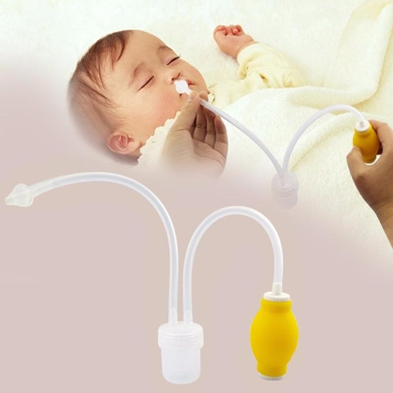 16 Newborn Baby Safety Nasal Aspirator Vacuum Suction Nose Cleaner + Medical Tweezers Infant Snot Vacuum Sucker Baby Care kit 1