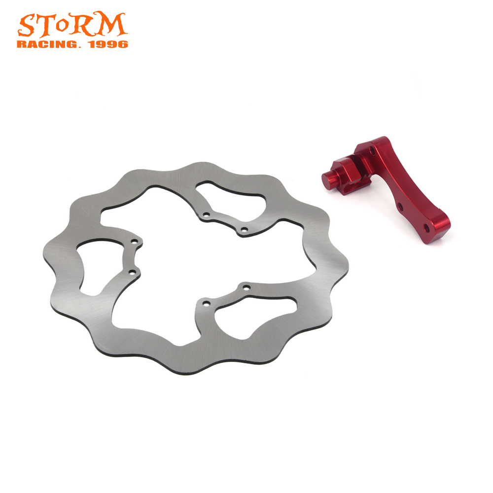 270MM Front Brake Disc and Bracket For Honda CR125 CRE250 CR250 CRF250X CRF250R SUPERMOTARD CRF450R CRF450X 7 8 lever brake clutch master cylinder set reservoir for honda crf150r crf250x crf250r crf450r crf450x crf230f sl230 xr250