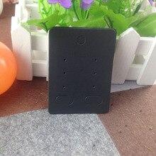 DIY Hand Made Black Earring Card Bigger Size Accept Custom Logo MOQ 1000 PCS Cost Logo