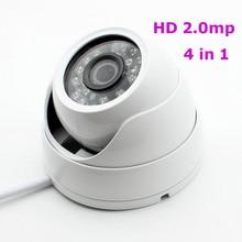 4in1 HD 1080 P AHD TVI CVI CVBS 2MP An Ninh Camera Quan Sát Ngoài Trời Dome D/N 24IR Đèn LED UTC trắng