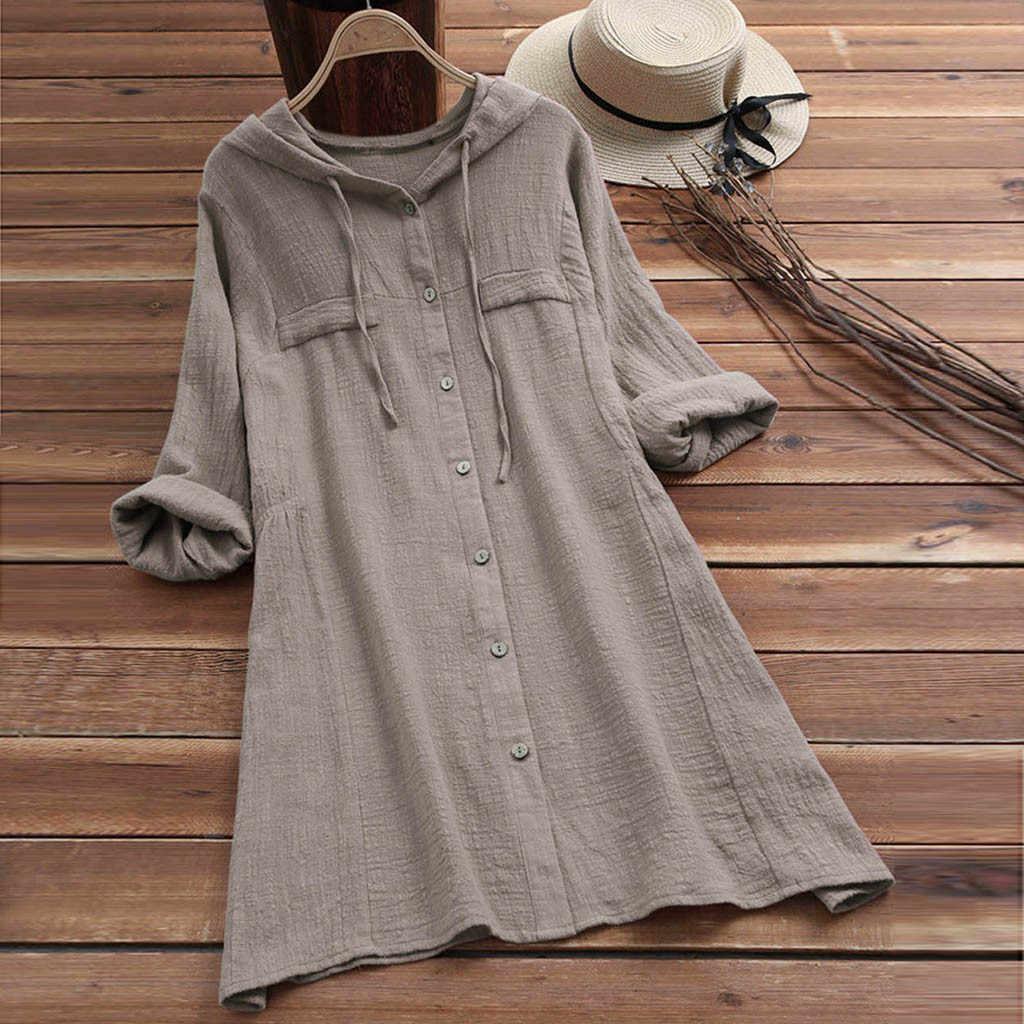 送料ダチョウ服女性カジュアルボタン大サイズ綿リネンドレストップス Tシャツポケットチェック柄ルーズ特大 Tシャツドレス