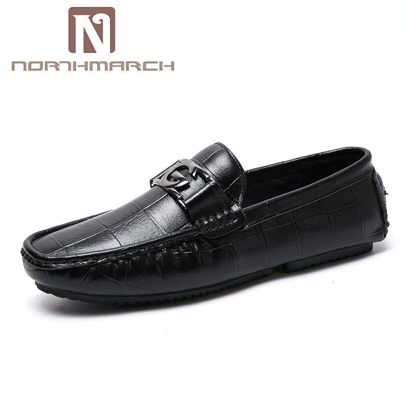 NORTHMARCH Fashion Summer Spring Men Driving Shoes Loafers Leather Boat Shoes Men Breathable Male Casual Flats Shoes Schoenen gram epos 2018 male spring summer trend casual leisure pu leather shoes breathable for man footwear loafers men s slip on flats
