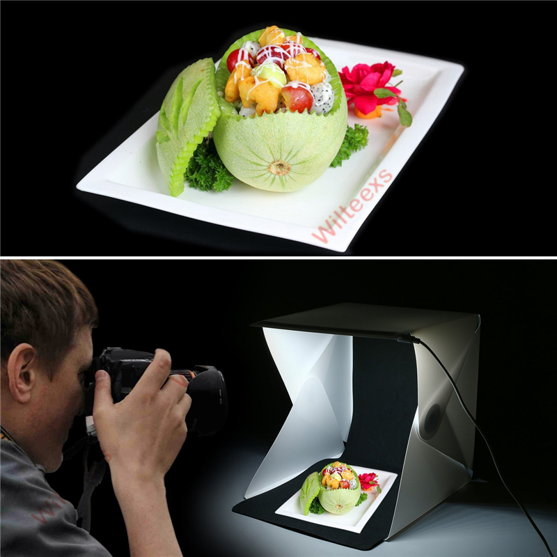 WILTEEXS Mini Photo Studio Box Telón de fondo de fotografía - Cámara y foto - foto 3