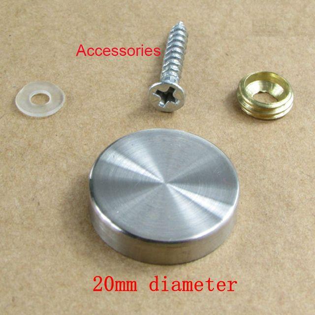 20pcs 20mm Diameter Stainless Steel Screw Cap Covers Decorative