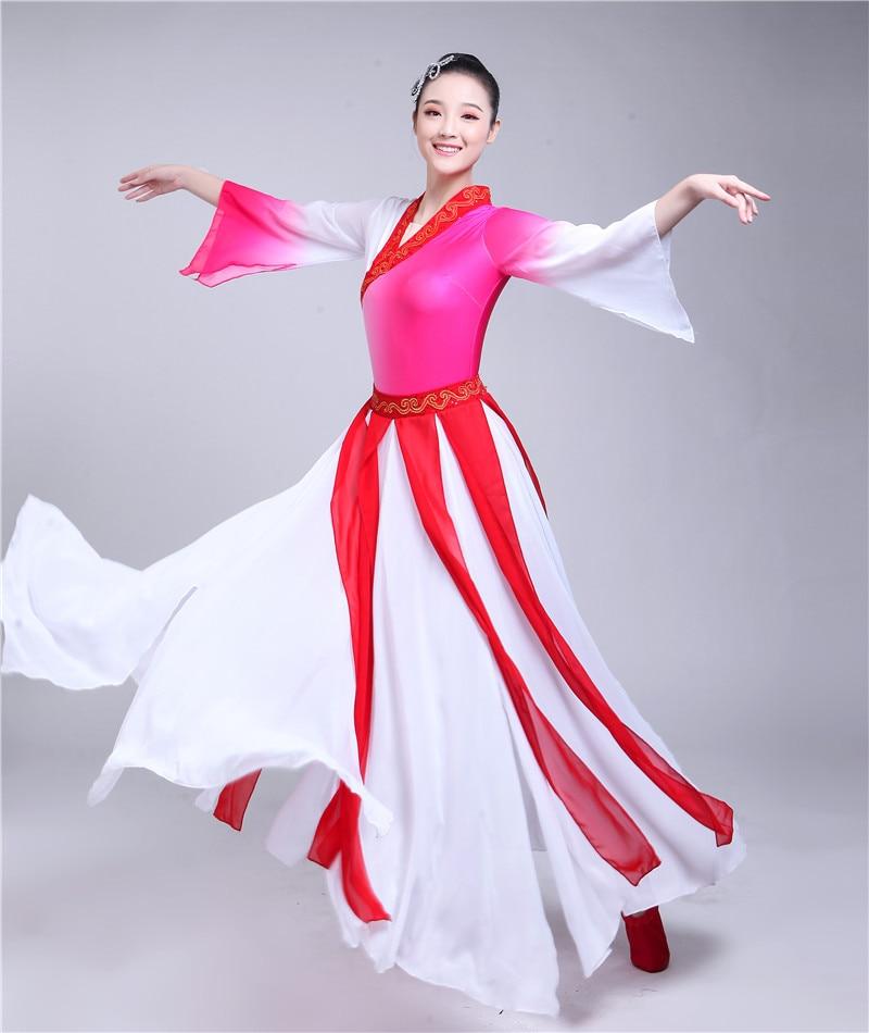 Chinois hanfu femmes chinois costume de danse folklorique pour les femmes danseuse costume ancien chinois costume rouge folk robe scène porter